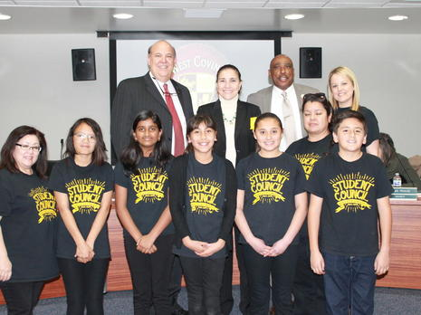 Student Council attends Board Meeting